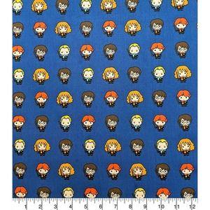 Kawaii Harry Potter Characters Fabric